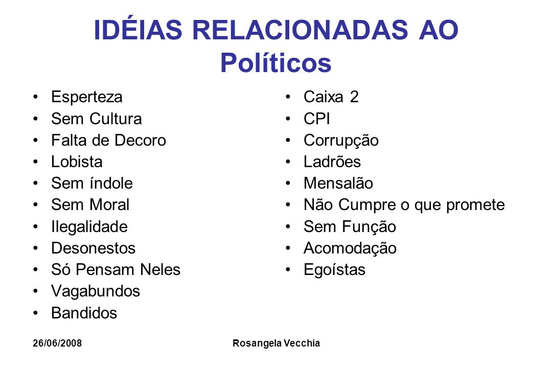IDÉIAS RELACIONADAS AO Políticos