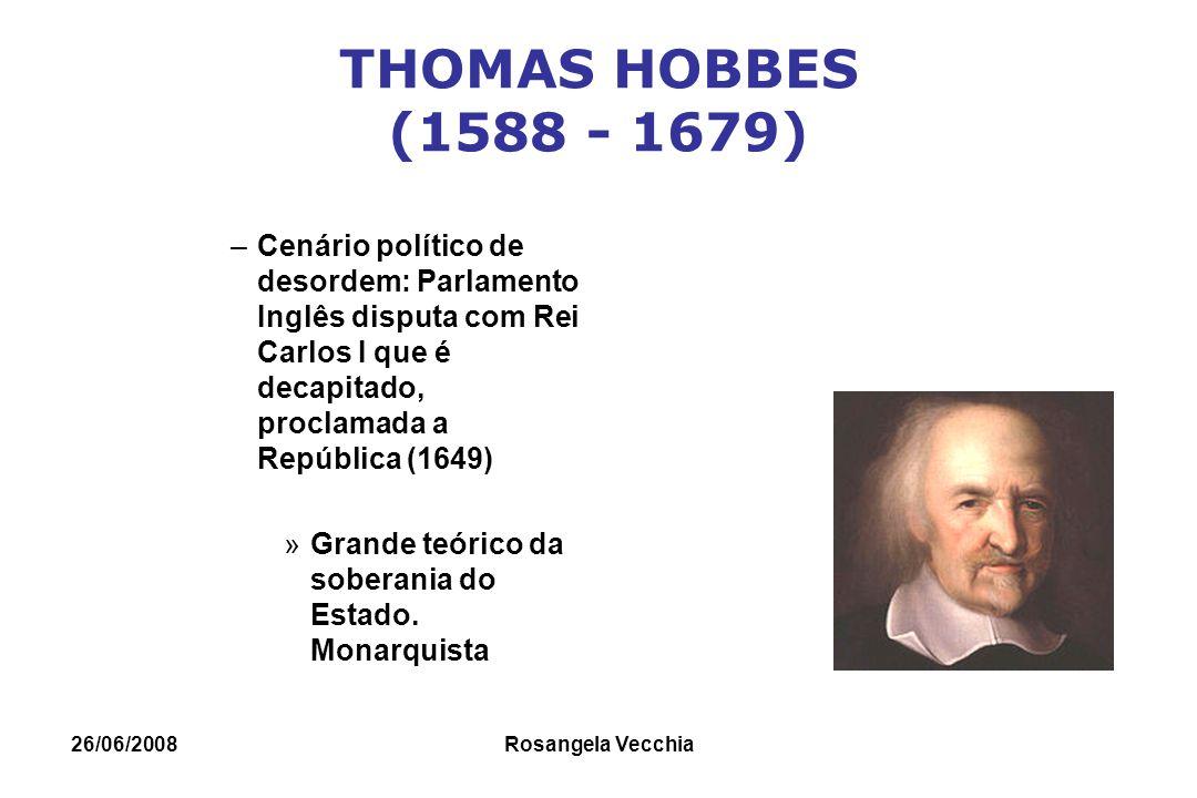 THOMAS HOBBES (1588 - 1679) Cenário político de desordem: Parlamento Inglês disputa com Rei Carlos I que é decapitado, proclamada a República (1649)
