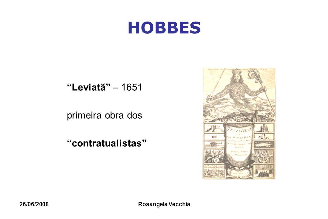 HOBBES Leviatã – 1651 primeira obra dos contratualistas 26/06/2008