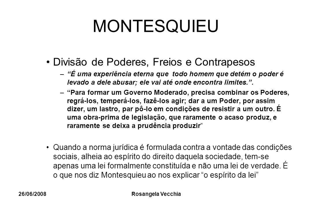 MONTESQUIEU Divisão de Poderes, Freios e Contrapesos