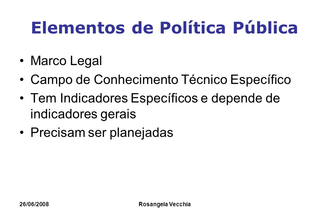 Elementos de Política Pública