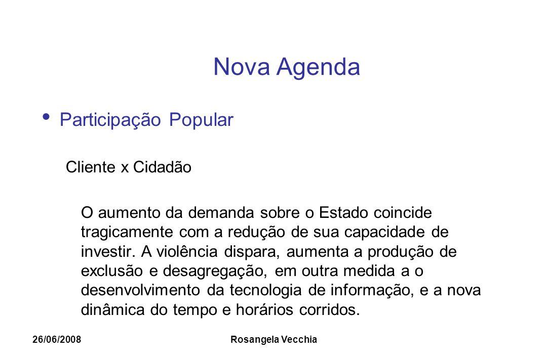 Nova Agenda Participação Popular Cliente x Cidadão