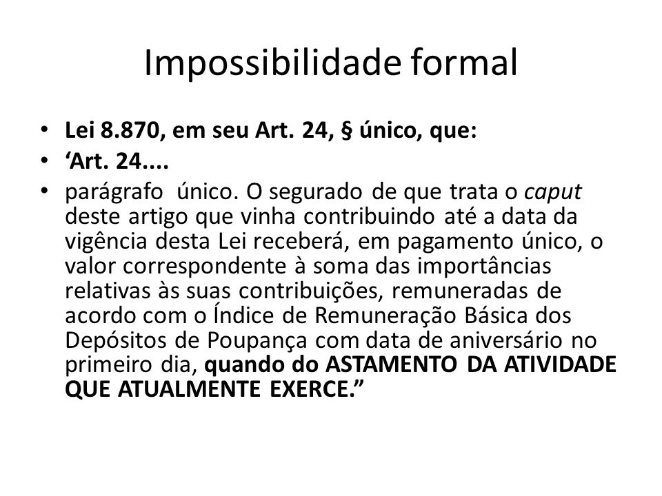 Impossibilidade formal