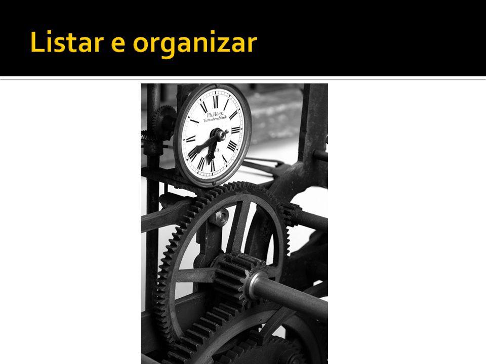 Listar e organizar