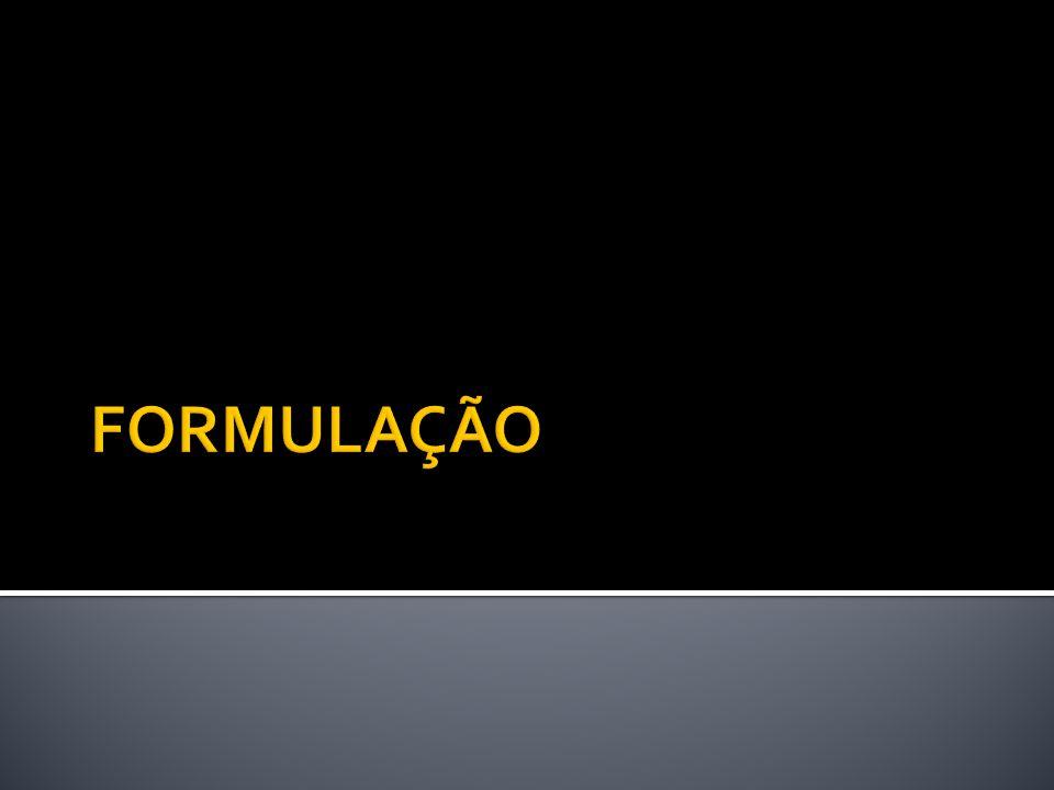 FORMULAÇÃO