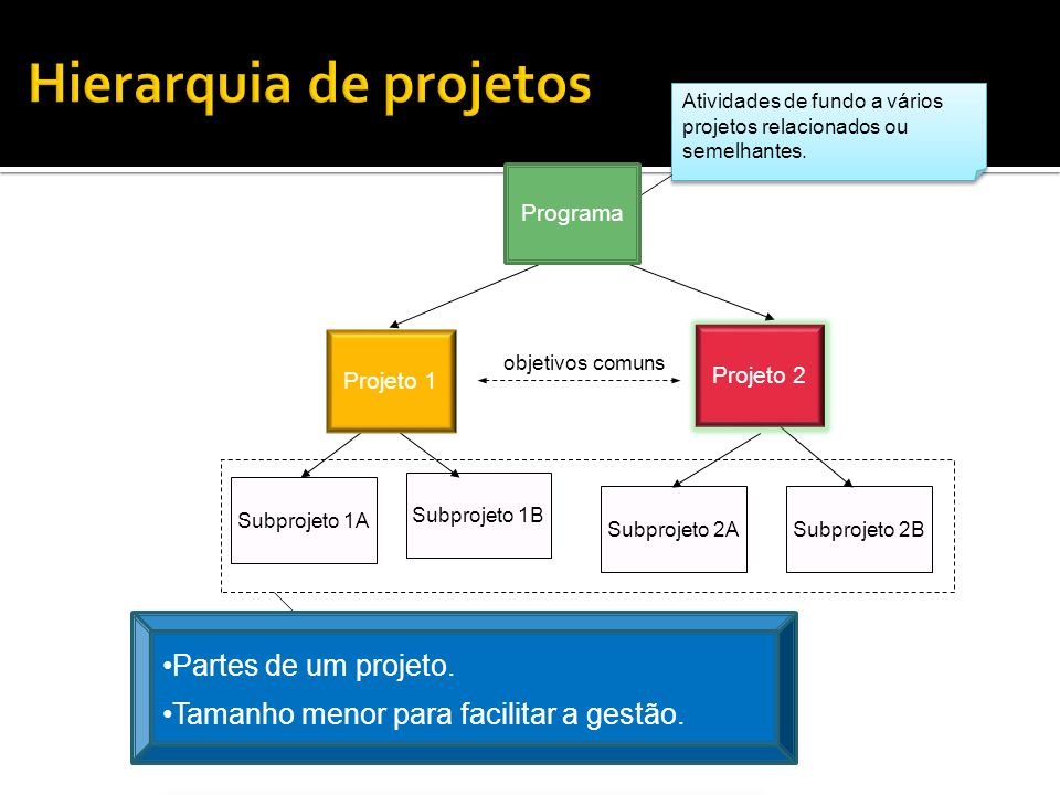Hierarquia de projetos