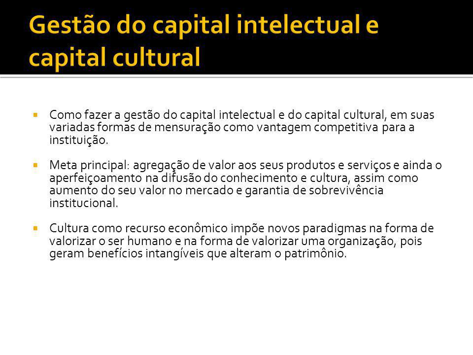 Gestão do capital intelectual e capital cultural
