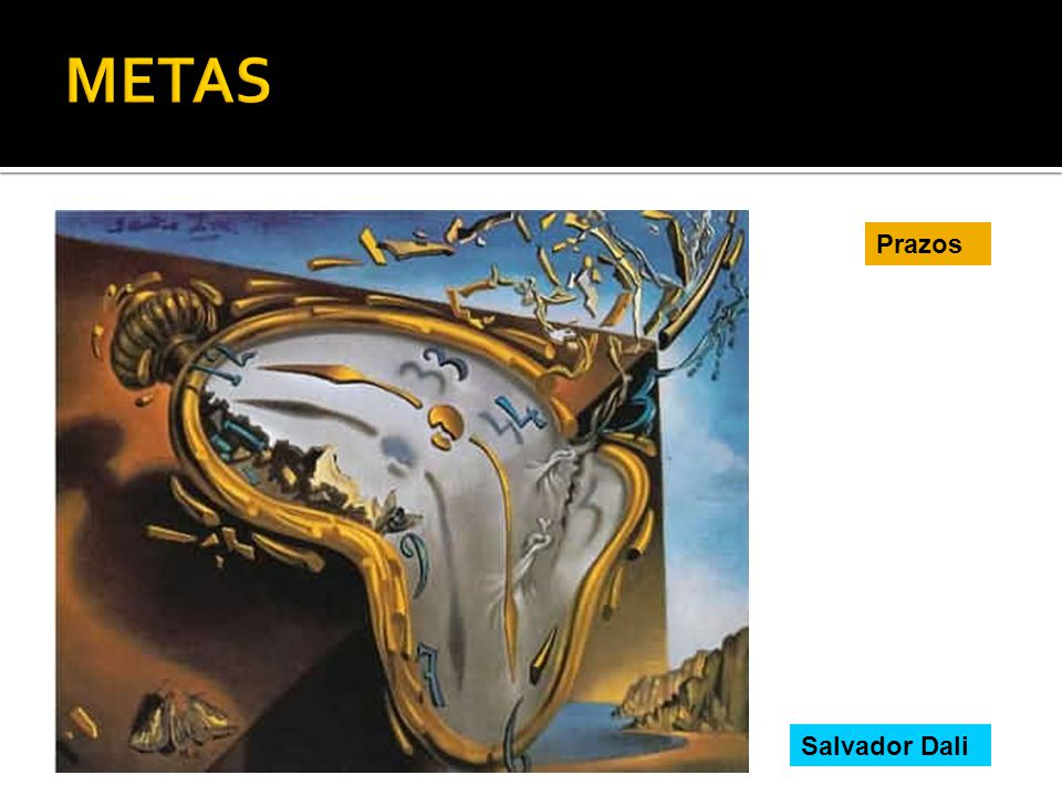 METAS Prazos Salvador Dali