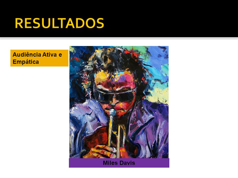 RESULTADOS Audiência Ativa e Empática Miles Davis
