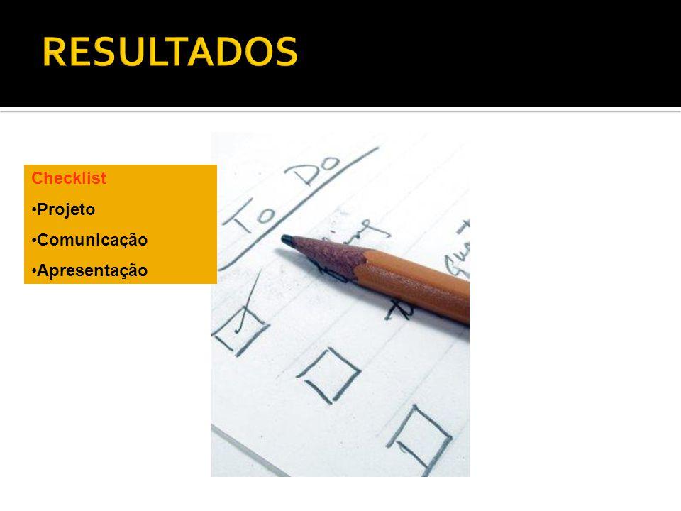 RESULTADOS Checklist Projeto Comunicação Apresentação