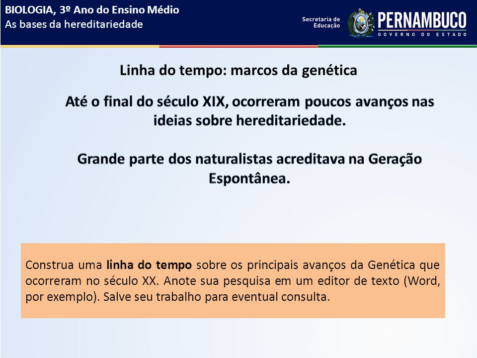 Linha do tempo: marcos da genética