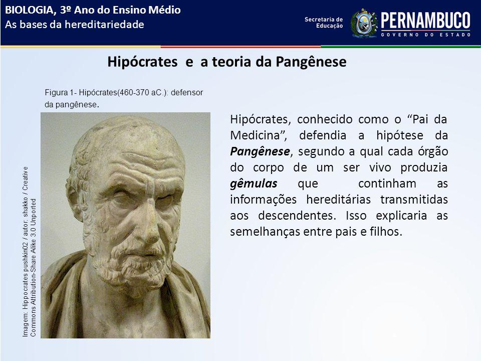 Hipócrates e a teoria da Pangênese