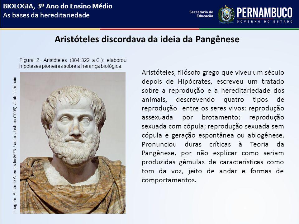 Aristóteles discordava da ideia da Pangênese