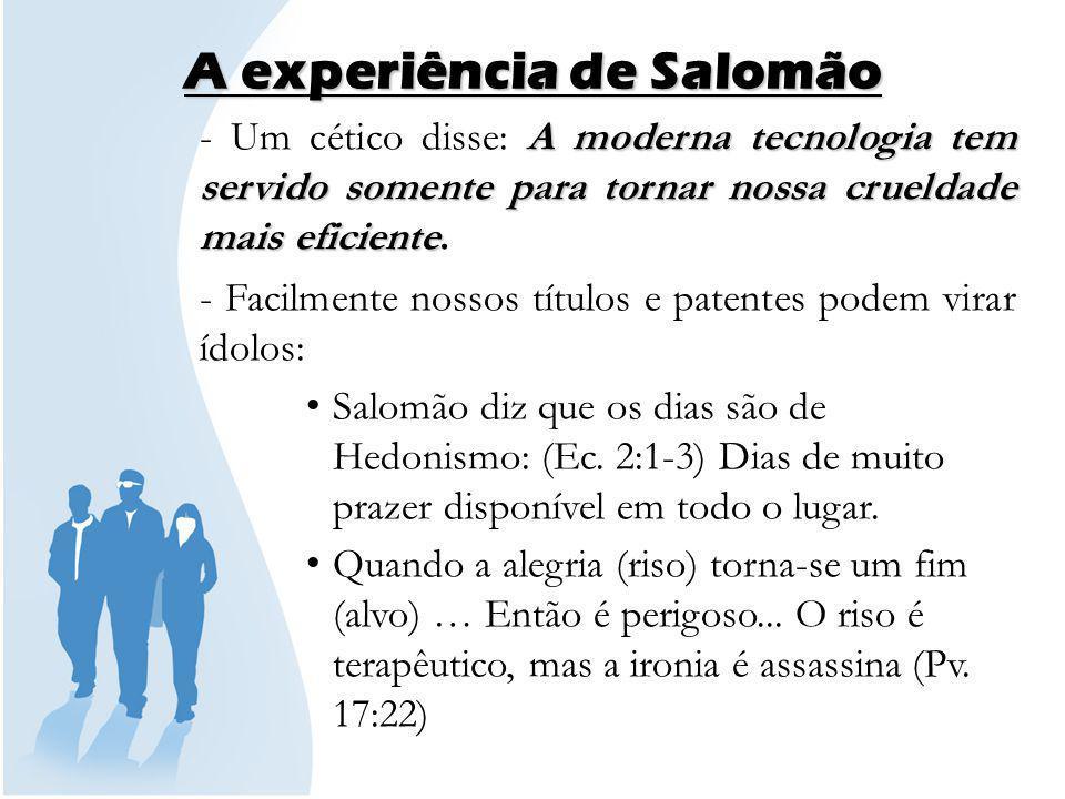 A experiência de Salomão
