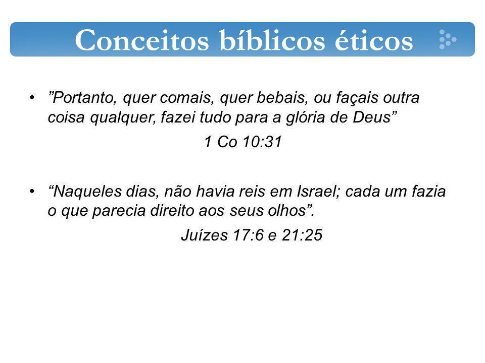 Conceitos bíblicos éticos