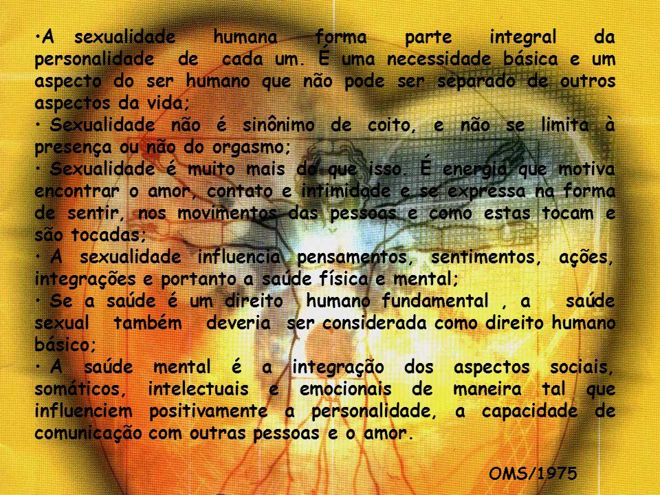 A sexualidade humana forma parte integral da personalidade de cada um