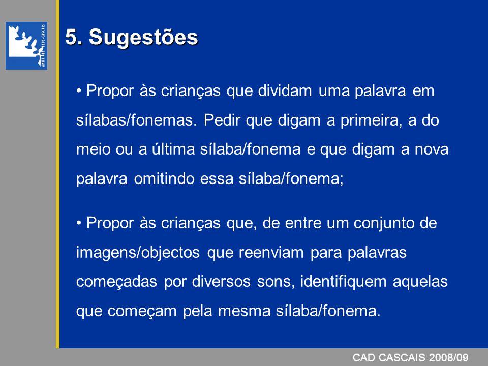 5. Sugestões