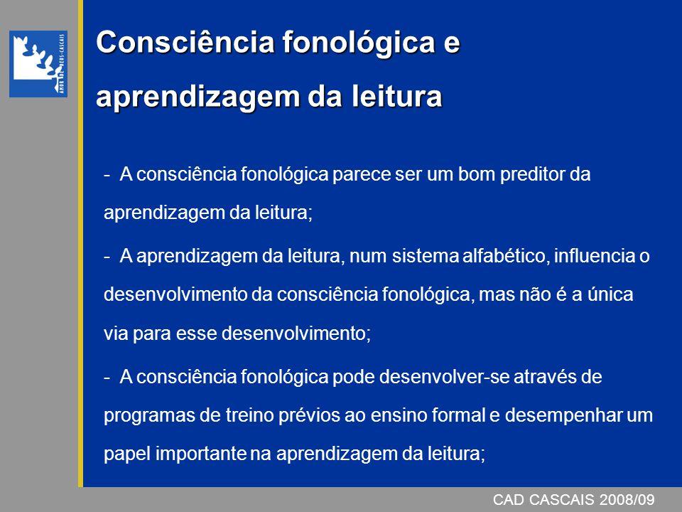 Consciência fonológica e aprendizagem da leitura