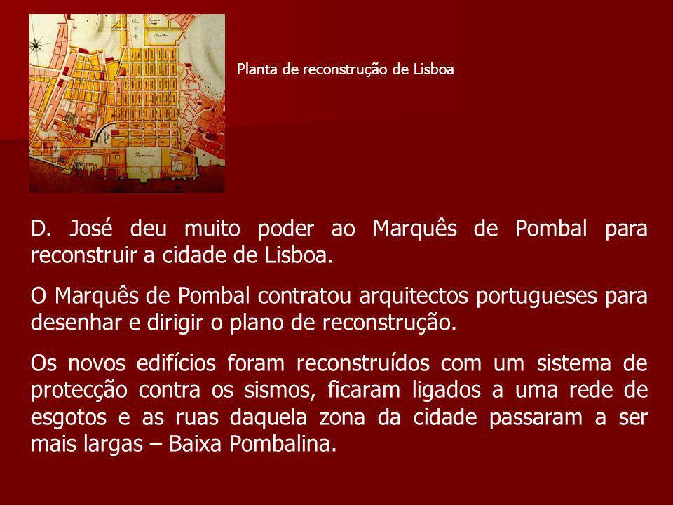 Planta de reconstrução de Lisboa