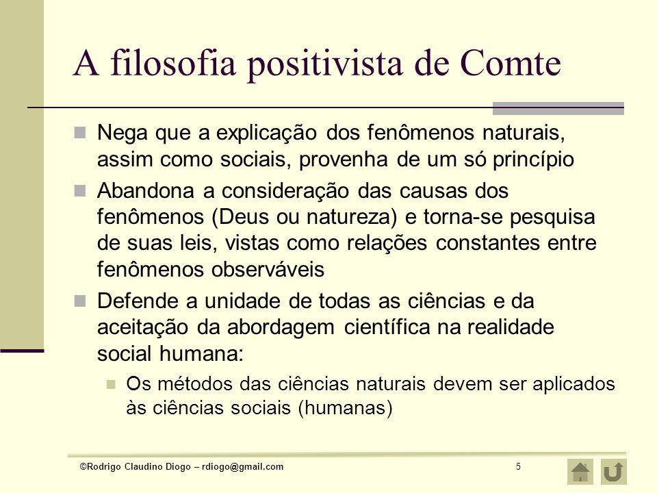 A filosofia positivista de Comte