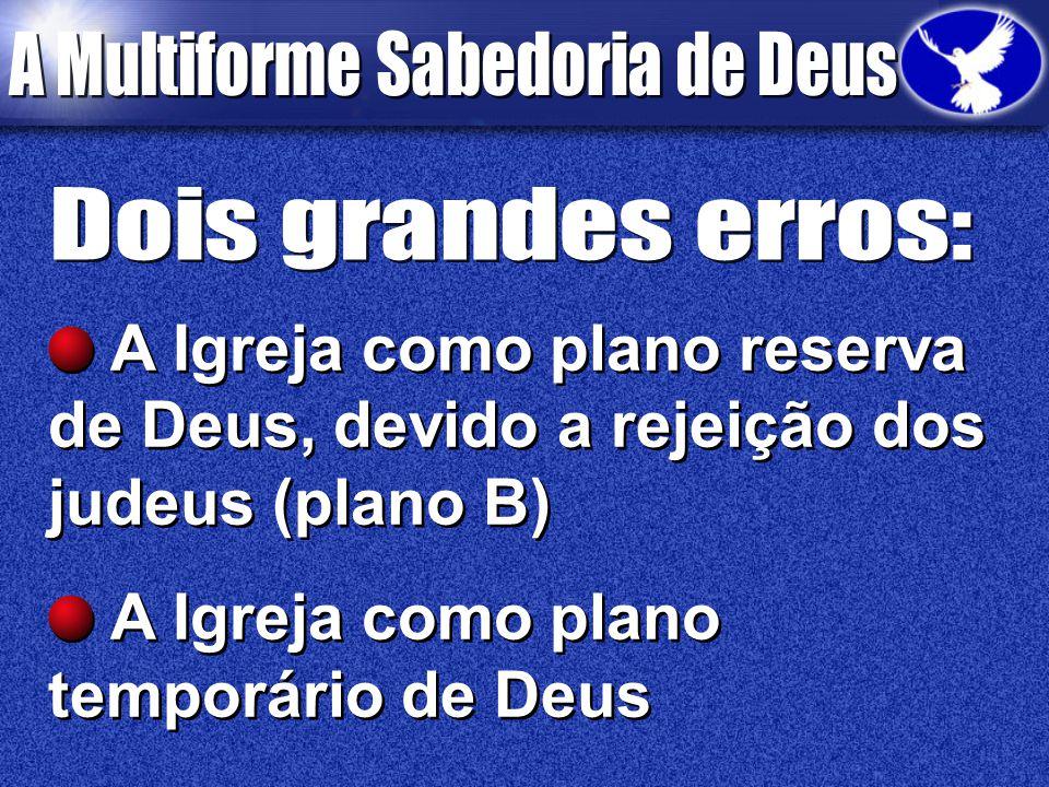 A Igreja como plano temporário de Deus