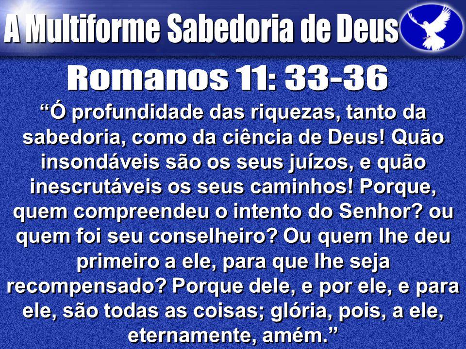 Romanos 11: 33-36