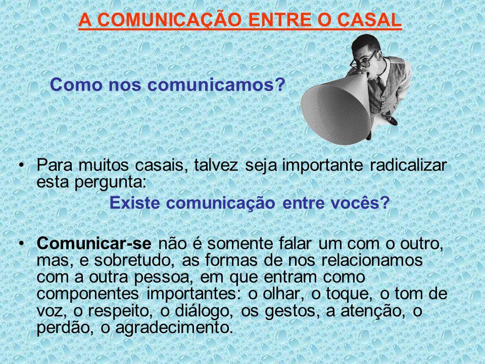 A COMUNICAÇÃO ENTRE O CASAL