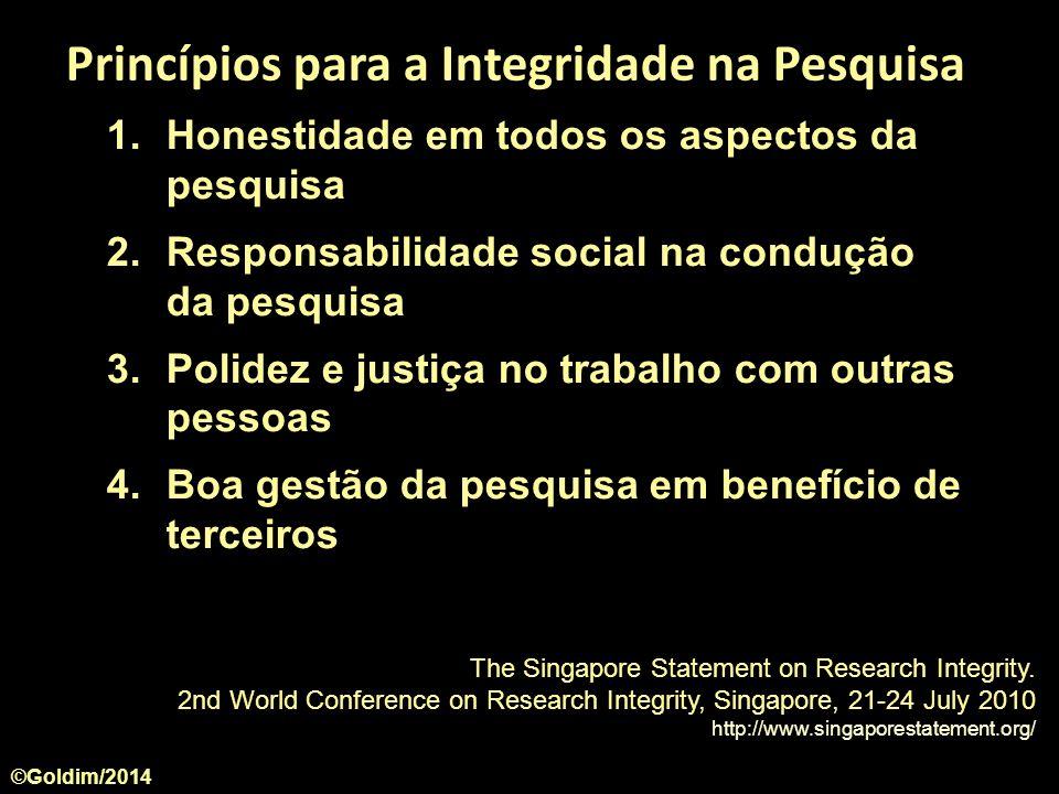 Princípios para a Integridade na Pesquisa