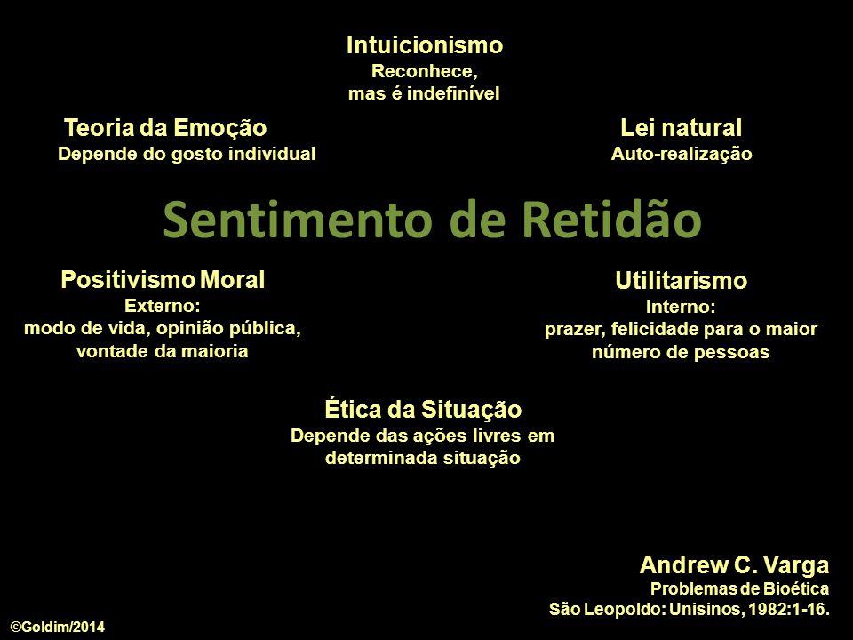 Sentimento de Retidão Intuicionismo Teoria da Emoção Lei natural