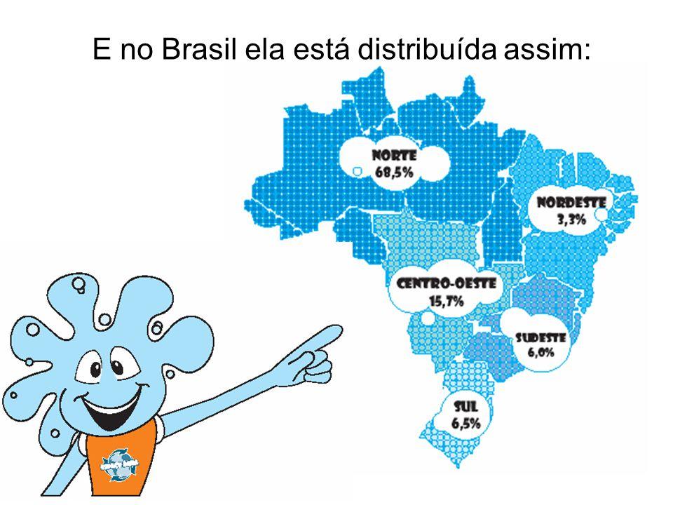 E no Brasil ela está distribuída assim: