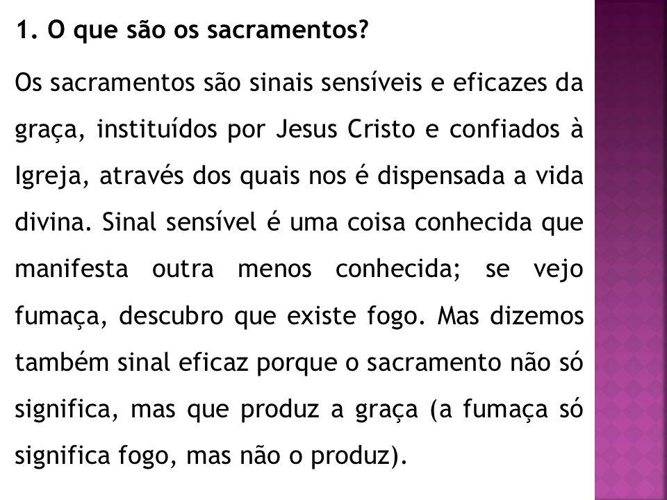 1. O que são os sacramentos