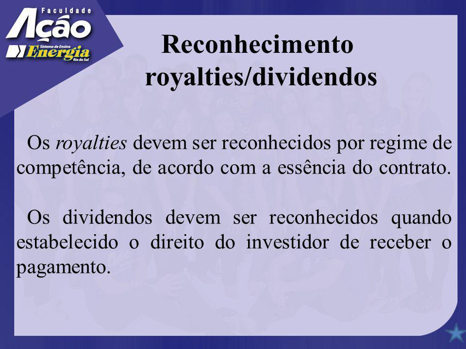 royalties/dividendos