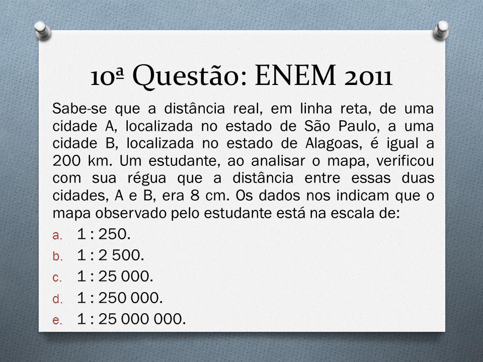 10ª Questão: ENEM 2011