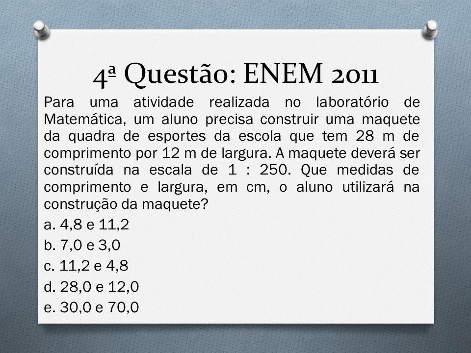 4ª Questão: ENEM 2011