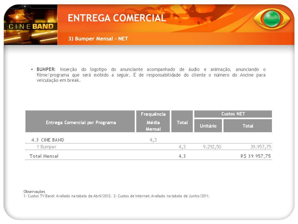 ENTREGA COMERCIAL 3) Bumper Mensal - NET