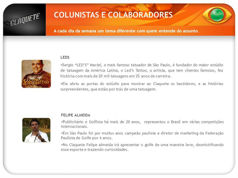 COLUNISTAS E COLABORADORES