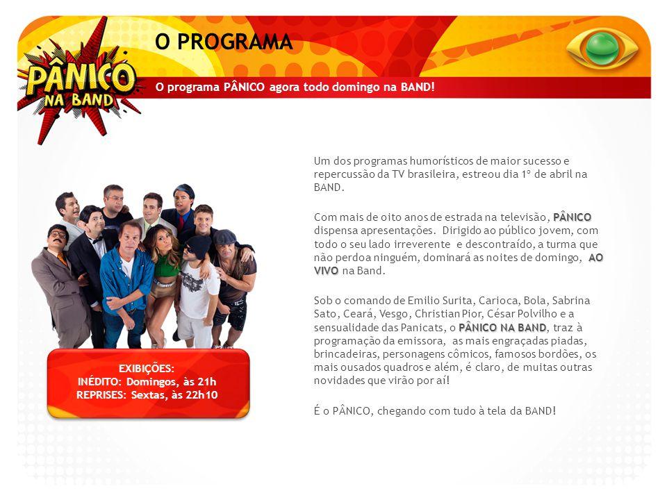 O PROGRAMA O programa PÂNICO agora todo domingo na BAND!