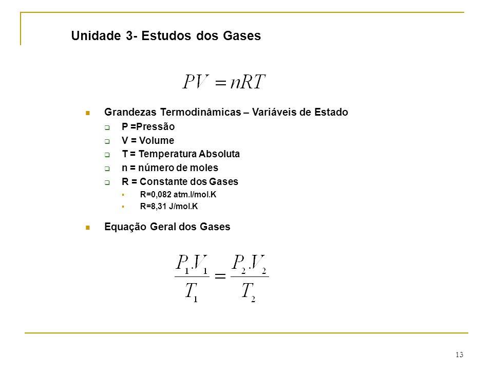 Unidade 3- Estudos dos Gases