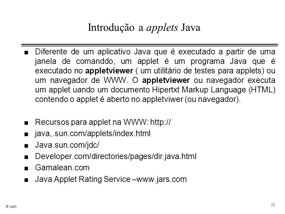 Introdução a applets Java