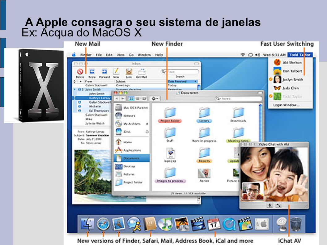 A Apple consagra o seu sistema de janelas
