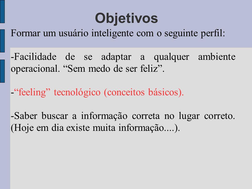 Objetivos Formar um usuário inteligente com o seguinte perfil: