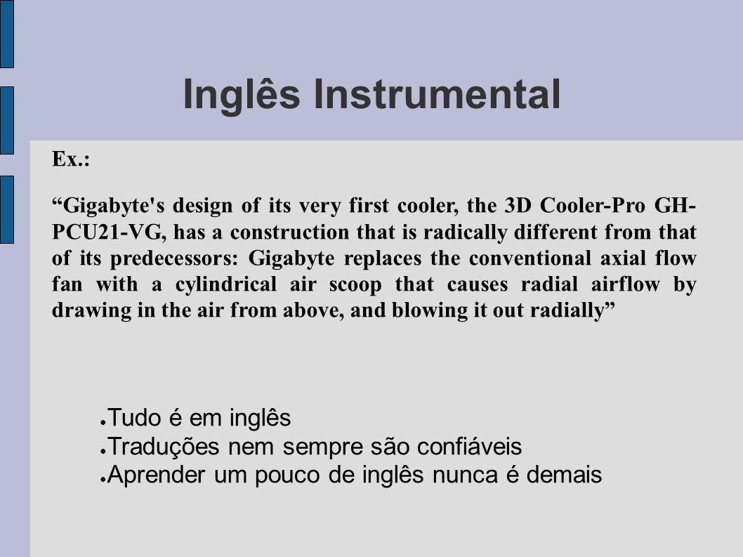 Inglês Instrumental Tudo é em inglês