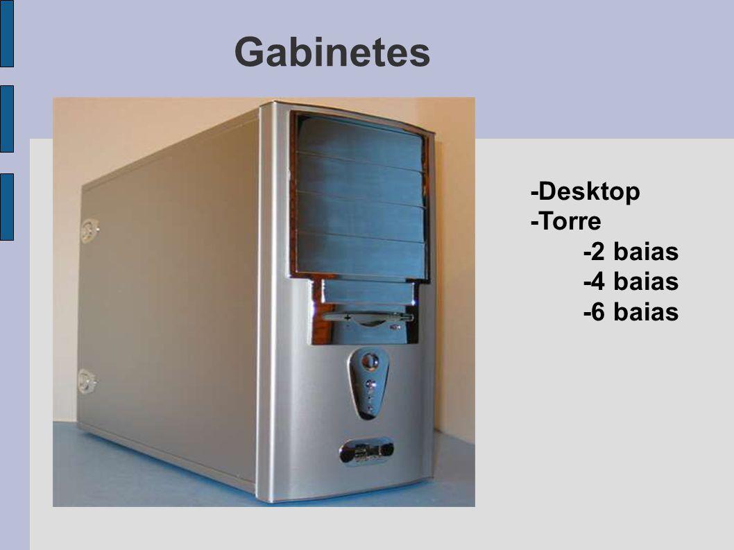 Gabinetes -Desktop -Torre -2 baias -4 baias -6 baias