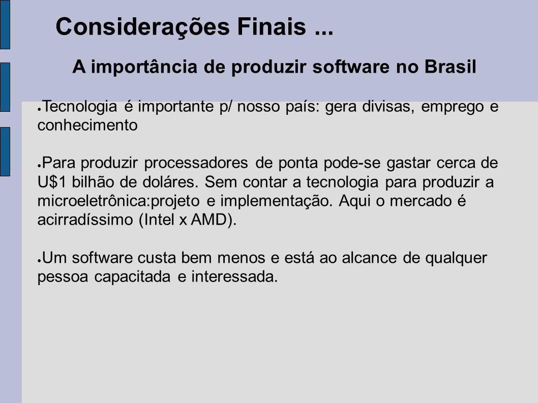 A importância de produzir software no Brasil