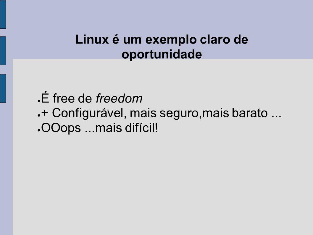 Linux é um exemplo claro de oportunidade