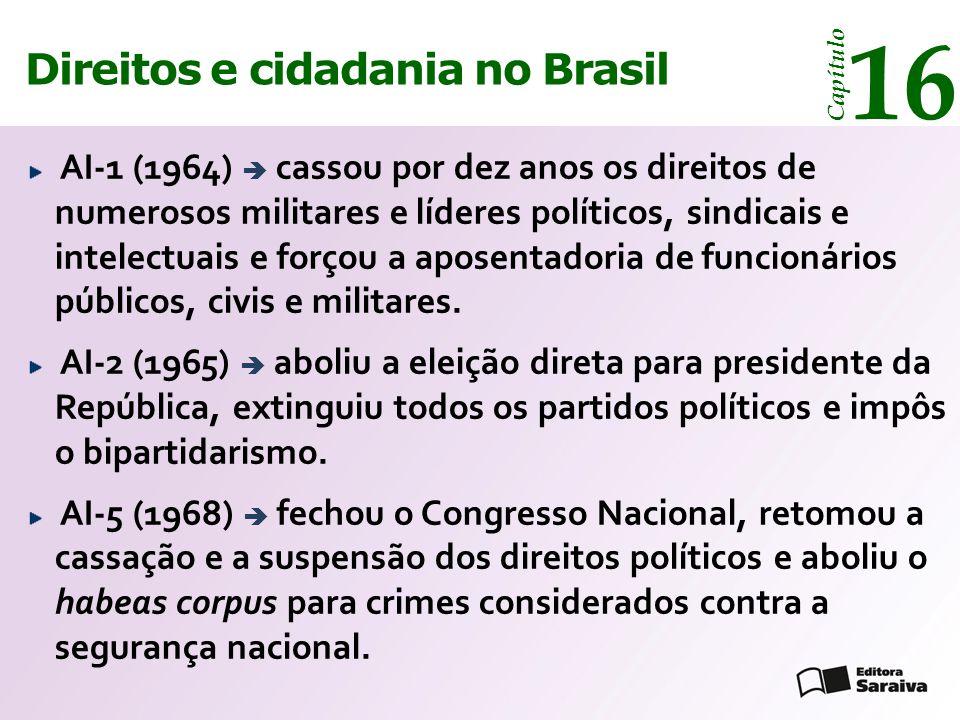 16 14 Direitos e cidadania Direitos e cidadania no Brasil Capítulo