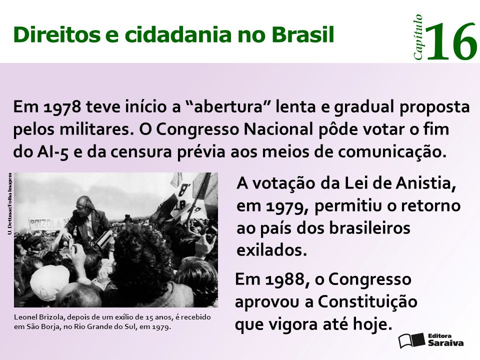 16 14 Direitos e cidadania no Brasil Direitos e cidadania