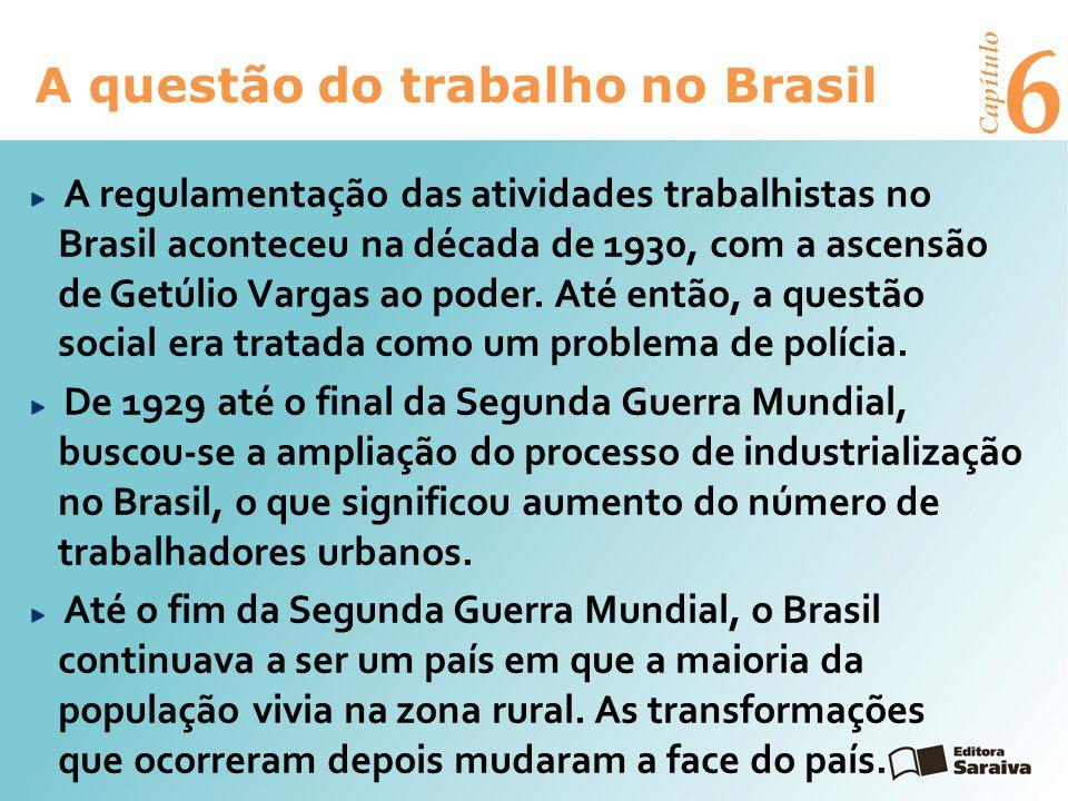 6 A questão do trabalho no Brasil Capítulo