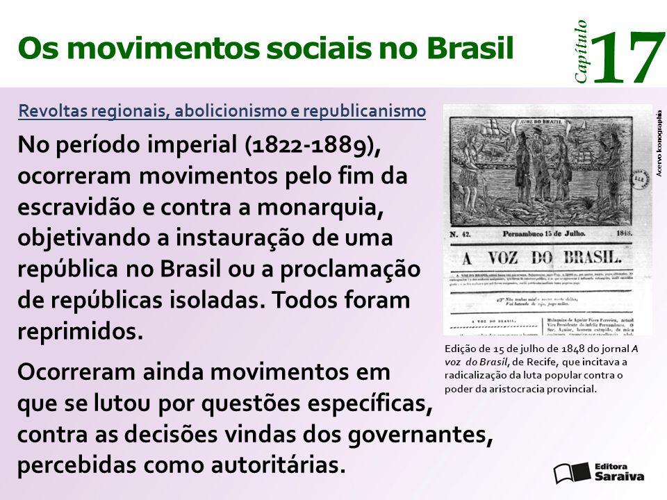 17 Os movimentos sociais no Brasil
