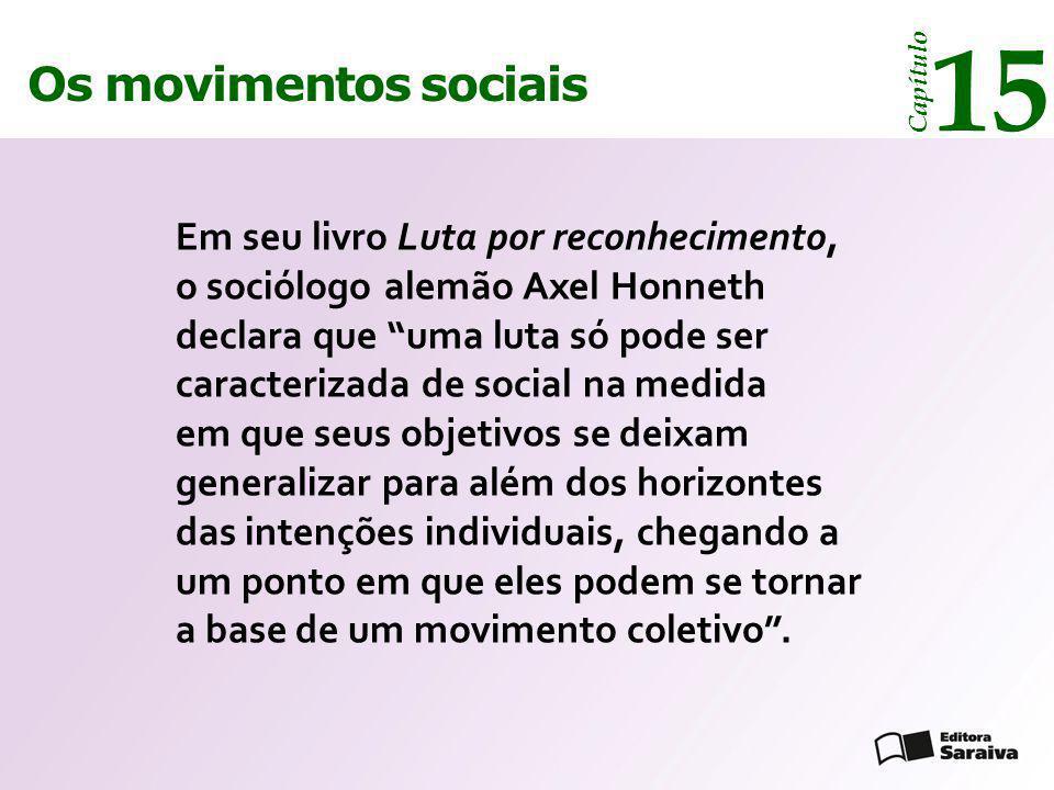 15 Os movimentos sociais. Capítulo.